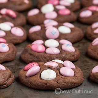 Double Chocolate M&M Cookies
