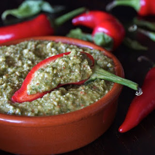 Roasted Red Fresno Pepper Pesto