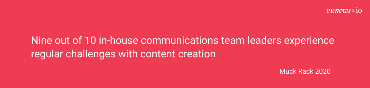 content creation is a challenge for PR specialists.