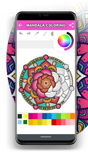 Mandala Coloring Book for Free screenshot 4