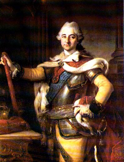 Photo: Stanislaw Poniatowski avporträtterad av Per Krafft d.ä. Förvaras i Kungliga slottets museum i Warszawa. 179kB. Public domain-foto enl. Wikimedia commons.