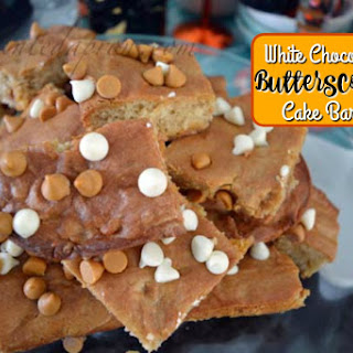 White Chocolate Butterscotch Cake Bars