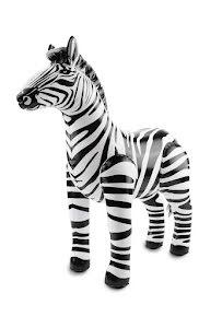 Uppblåsbar zebra