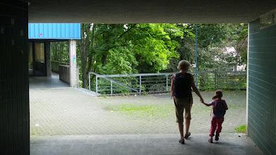 Photo: Kraftfahrzeugfreie Zone.