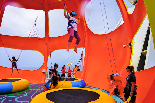 mariner-of-the-seas-sky-pad.jpg - VR, anyone? Hit the trampoline with an optional headset for a trippy virtual experience on Mariner of the Seas.