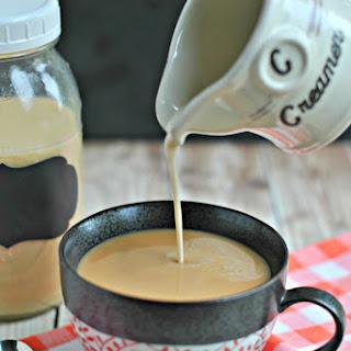 Creme Brulee Coffee Creamer.