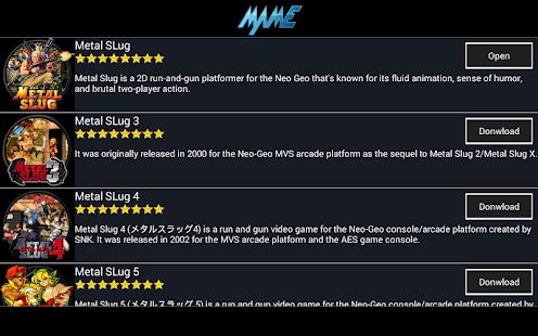 App MAME Arcade + All Roms + SLug Metal Series APK for Windows Phone