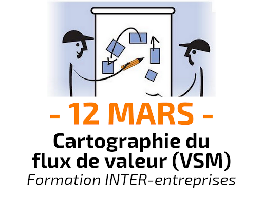 Cartographie du flux de valeur - Value Stream Mapping VSM - Formation INTER-entreprises