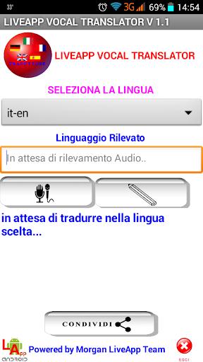 LiveApp Vocal Translator