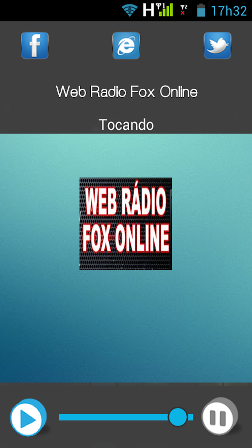 Web Rádio Fox Online: captura de tela