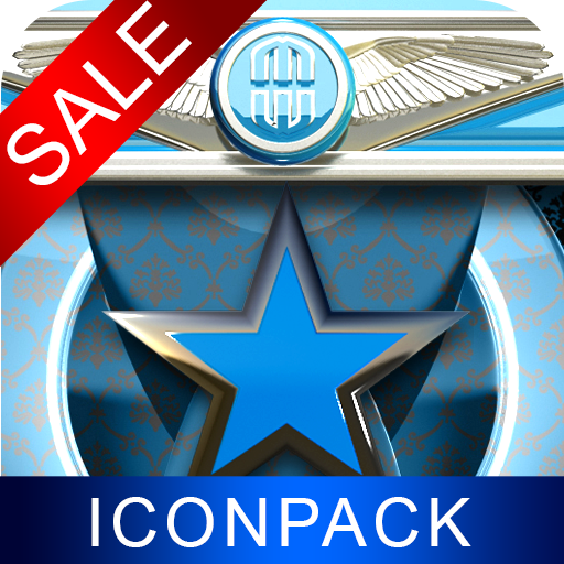 Lightblue Star HD Icon Pack