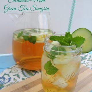 Cucumber-Mint Green Tea Sangria.