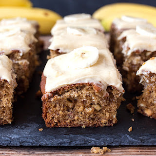 Banana Cake with Toffee Frosting.