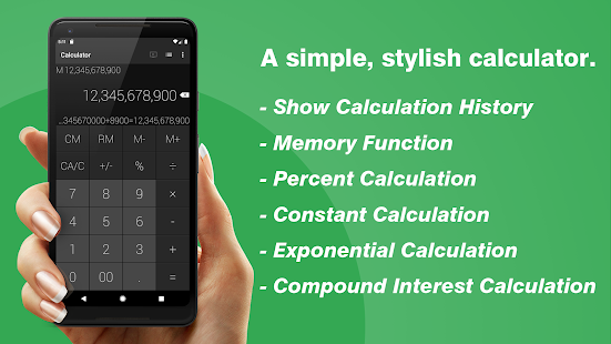 Calculator - Simple & Stylish Screenshot