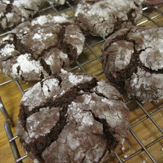Chocolate Crinkle Cake Mix Cookies.