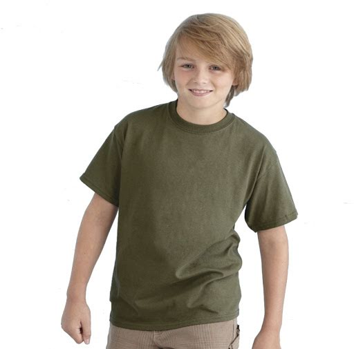 Children's Heavyweight Cotton T-Shirt to Brand