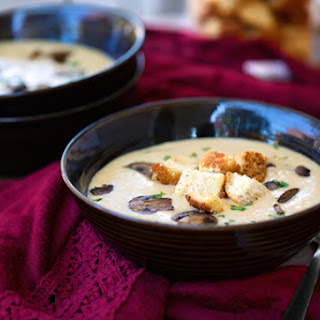 Vegan Creamy Mushroom Soup.