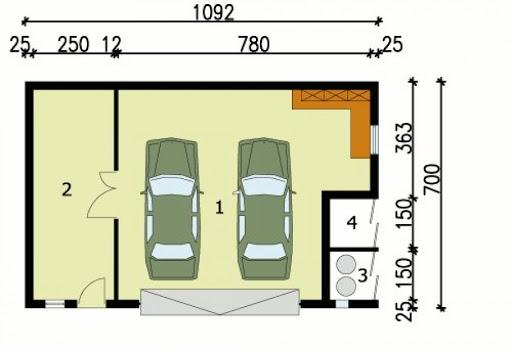 G104 - Rzut garażu