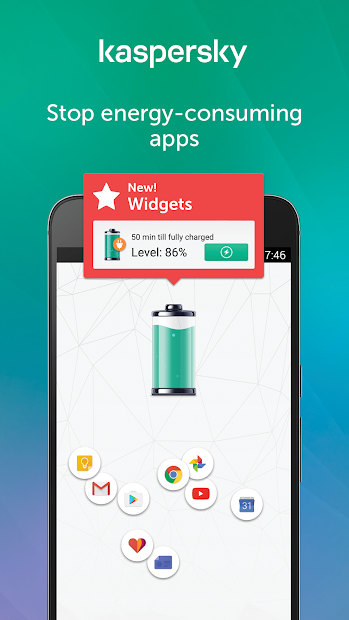 Kaspersky Battery Life: Saver & Booster Android App Screenshot