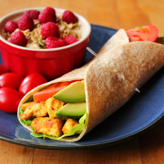 Scrambled Tofu Breakfast Wrap.