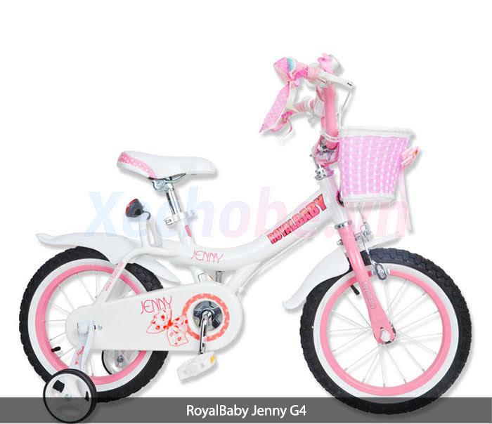 xe đạp cho  bé gái màu hồng