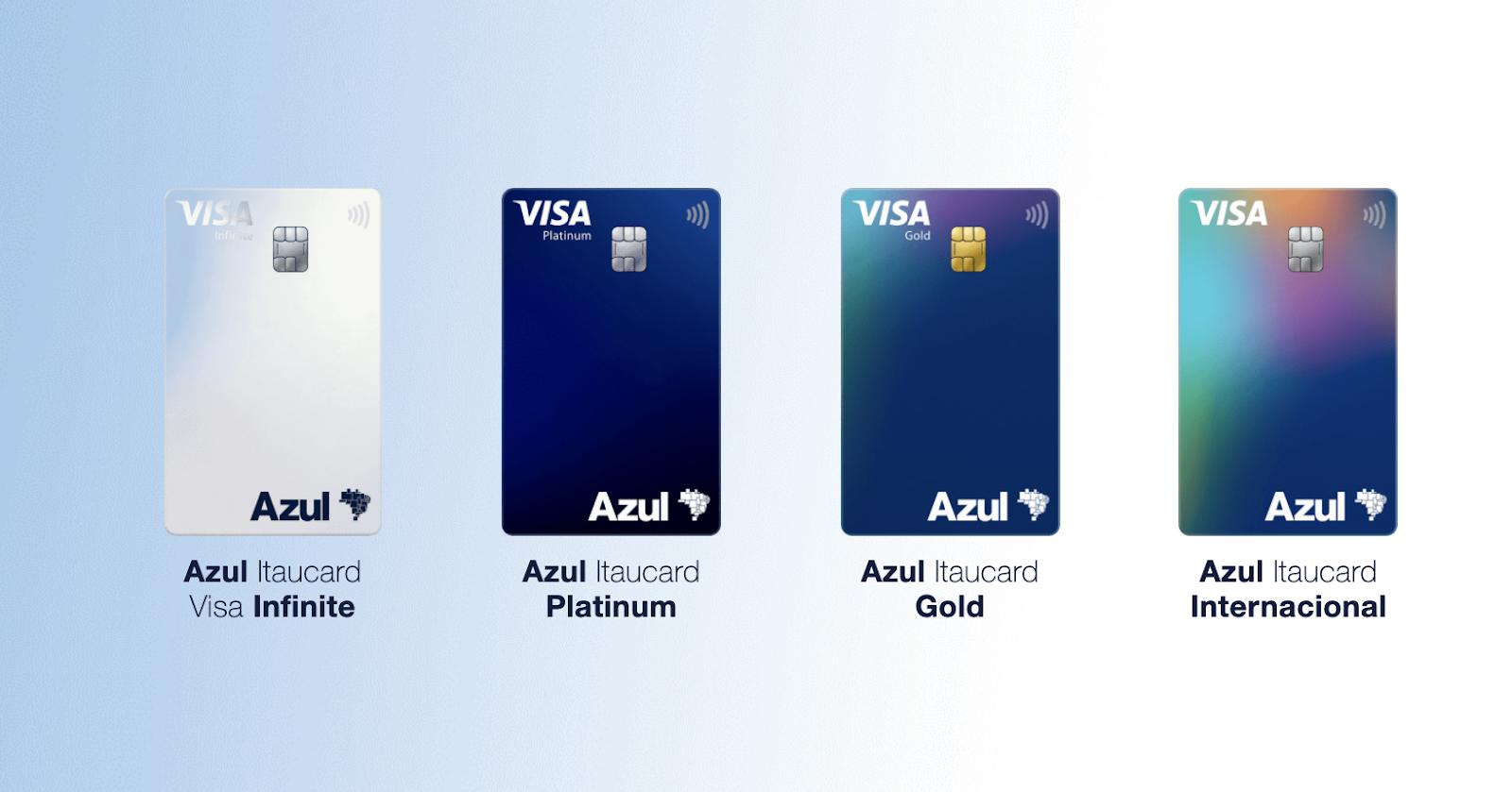 cartão de crédito azul