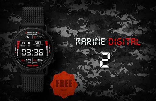 Marine Digital 2 Watch Face & Clock Live Wallpaper 1.07 screenshots 2
