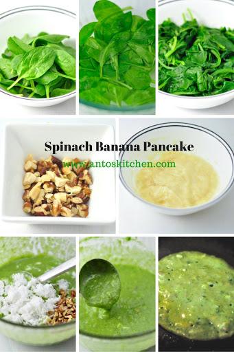 spinach banana pancakes