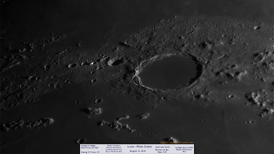 "Photo: Plato Crater on the moon in my 14"" Newt!"