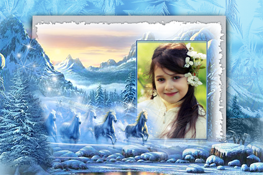 Snowfall Photo Frames
