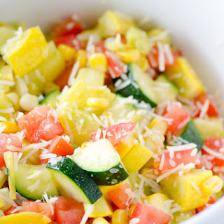 Parmesan Zucchini Corn and Tomatoes Recipe