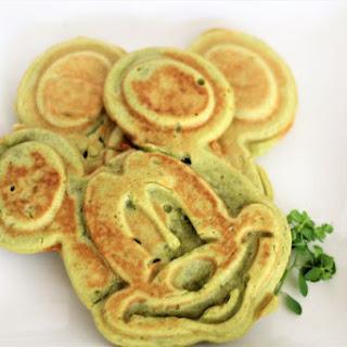 Vegan Matcha Green Tea Mickey Waffles Recipe