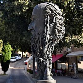A Jew from Toledo, Spain. by Marcel Cintalan - Artistic Objects Other Objects ( spain, statue, jewish, portrait, jew, toledo,  )