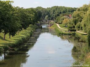 Photo: Enfilade de ponts à Briare. Il y a 7 ponts en enfilade.