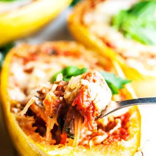 Lasagna Stuffed Spaghetti Squash Boats