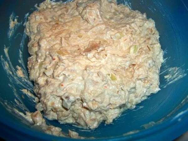 In a medium sized bowl, blend all together, well. Place in refrigerator to chill,...