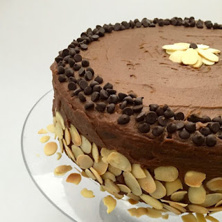 Vegan Chocolate Layer Cake with Buttercream Chocolate Frosting.