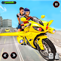 Real Flying Bike Taxi Game icon