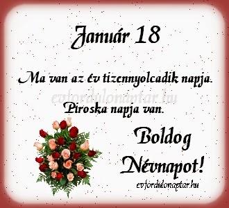 Január 18 - Piroska névnap