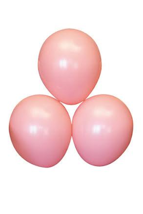 Rosa ballonger, 25 st