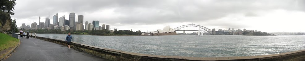 Photo: Our first day in Sydney- we wandered all around town, even though it was raining.
