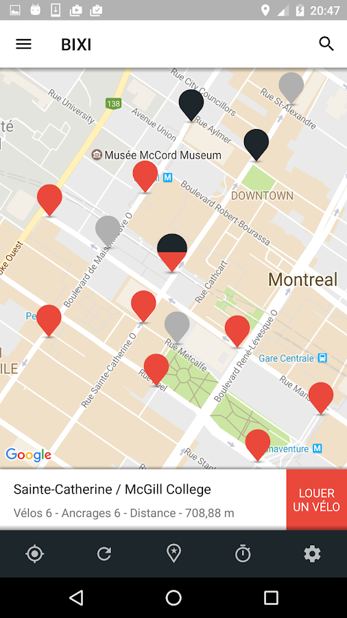BIXI – Capture d'écran