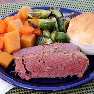 Slow Cooker Corned Beef with Rutabaga and Carrots