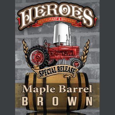 Logo of Heroes Maple Barrel Brown