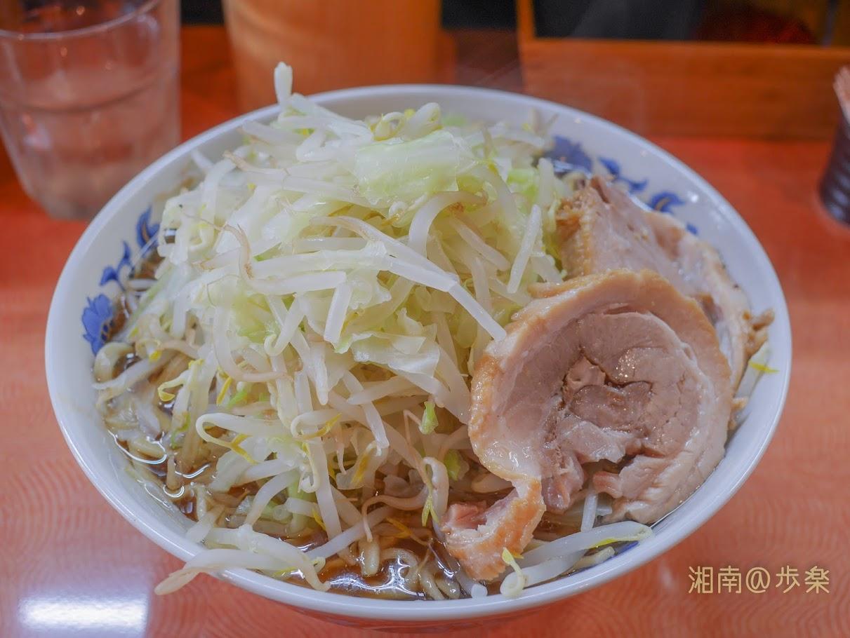 自家製麺 ブーマン しょうゆ:レギューラーサイズ@750円 野菜増し 丼が小ぶりなので天地返しが出来ない。