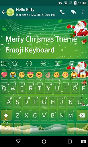 Christmas Green Emoji Keyboard