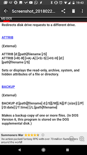 Download MS-DOS Commands Google Play softwares - apvRL56bpjQF | mobile9