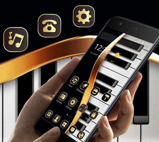 Gold Luxury Piano Theme 1.1.4 screenshots 1