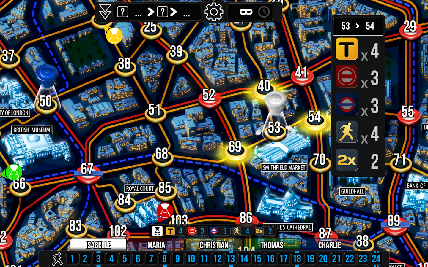 Scotland Yard- screenshot