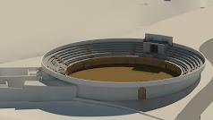 Imagen del la plaza con el aspecto que presentará cuando finalicen las obras.